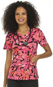 Landau Misses & Womens Square Neck Scrub Top