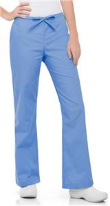 Landau Women's Natural Flare Leg Scrub Pants