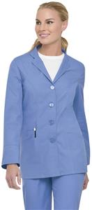 Landau Misses & Womens Button-Front Notch Lab Coat