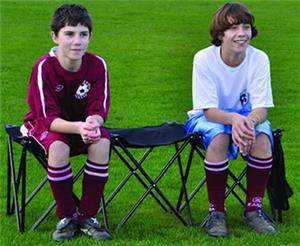 Jaypro 3 Person Portable Team Bench Soccer Equipment And Gear