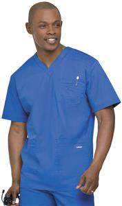 Landau Men's Stretch 4-Pocket Scrub Top