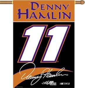 "NASCAR Denny Hamlin #11 2-Sided 28"" x 40"" Banner"
