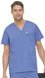 Landau Men's 5-Pocket Tunic Scrub Top