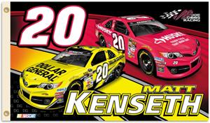 NASCAR Matt Kenseth #20 2-Sided 3' x 5' Flag