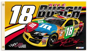 NASCAR Kyle Busch #18 2-Sided 3' x 5' Flag
