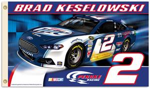 NASCAR Brad Keslowski #2 2-Sided 3' x 5' Flag