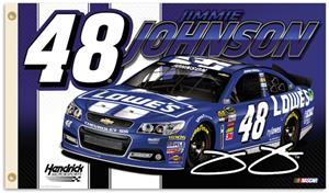NASCAR Jimmie Johnson #48 2-Sided 3' x 5' Flag