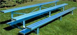 Jaypro 3 Row Standard Aluminum/Galvanized Bleacher