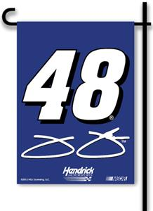 "Jimmie Johnson #48 2-Sided 13"" x 18"" Garden Flag"