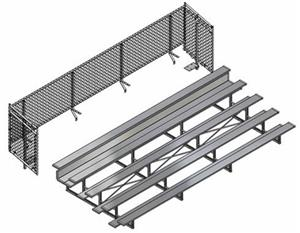 Jaypro Universal Enclosure For 5 Row 27' Bleachers