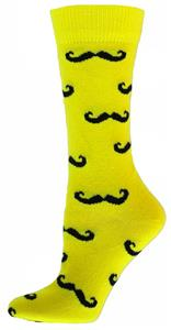 Red Lion Handlebar Mustache Crew Socks