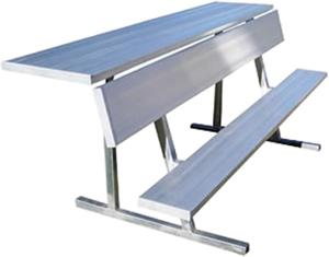 Jaypro 27' Aluminum Player Bench With Shelf