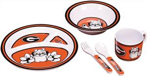 COLLEGIATE Georgia Bulldogs Kid's Dish Set
