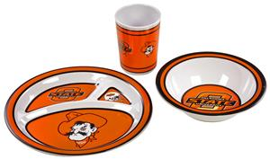 COLLEGIATE Oklahoma State Cowboys Kid's Dish Set