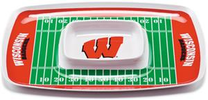 COLLEGIATE Wisconsin Badgers Chip & Dip Tray Set 6