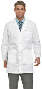 Landau Men's Four Button Lab Coat