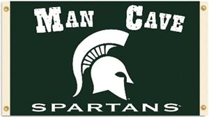 College Michigan State Spartan Man Cave 3'x5' Flag
