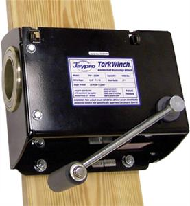 Jaypro Manual Backstop Winch W/Wall Mount Kit