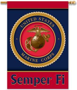 "BSI U.S. Marine Corps 2-Sided 28"" x 40"" Banner"