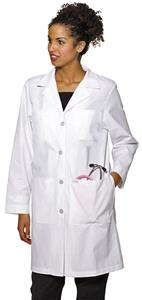 Landau Women's Four Button Closure Lab Coat