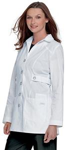 Landau Women's Trench Style Lab Coat