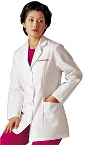 Landau Women's Four-Button Lab Coat