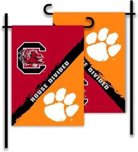 COLLEGIATE Clemson/S. Carolina House Divided Flag