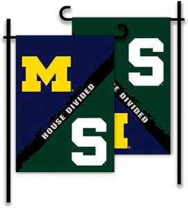 COLLEGIATE Michigan/Michigan St House Divided Flag