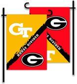 COLLEGIATE Georgia - Ga. Tech House Divided Flag