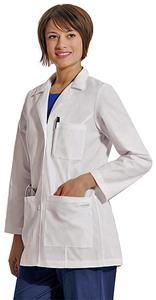Landau Women's Classic Three Button Lab Coat