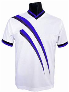 Pre-#ed AGGRESSOR Soccer Jerseys ROYAL w/BLK #s