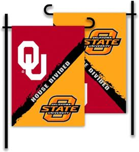 COLLEGIATE Oklahoma/Oklahoma St House Divided Flag