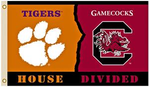 Collegiate Clemson/So. Carolina Rivalry House Flag
