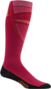 Wigwam Pink Snow Blitz Pro Knee Length Adult Socks