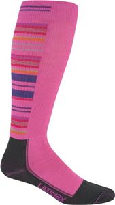 Wigwam Pink Snow Stripe Pro Knee High Adult Socks