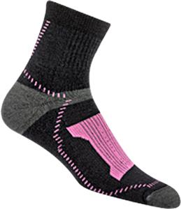 Wigwam Pink Outlast Trail Qtr Length Adult Socks