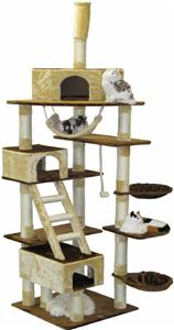 Go pet club adjustable 95 108 h cat tree playground for Epic cat tree