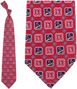 Eagles Wings MLB St Louis Cardinals Medallion Tie