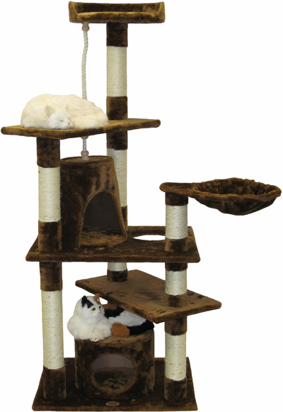 E70007 go pet club 62 h brown cat tree for Epic cat tree