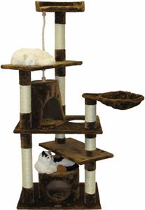 Go pet club 62 h brown cat tree playground equipment and for Epic cat tree