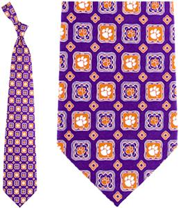 Eagles Wings NCAA Clemson Tigers Tie Medallion