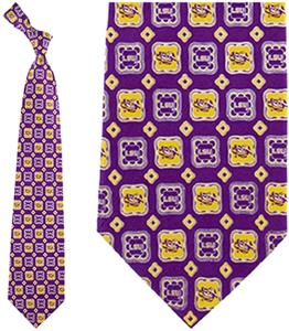Eagles Wings NCAA LSU Tigers Tie Medallion
