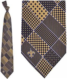 Eagles Wings NFL New Orleans Saints Patchwork Tie