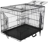 Go Pet Club Metal Dog Crate with 3-Door Divider