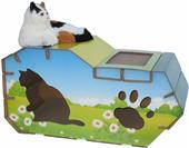 Go Pet Club Cat House Style Scratching Board