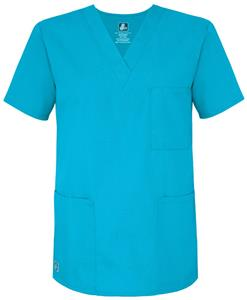 Adar Womens Three Pocket V-Neck Tunic Scrub Top