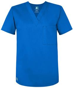 Adar Womens One Pocket V-Neck Tunic Scrub Top