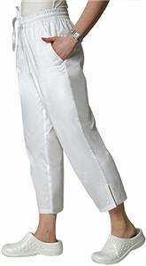 Adar Womens Side Pocket Capri Uniform Pants