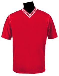 Pre-#ed FUERZA Soccer Jerseys SCARLET W/WHITE #'s