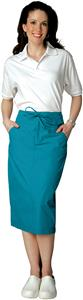 Adar Womens Mid-Calf Length Drawstring Skirt